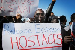 Hundreds of Israel-bound African refugees are being held hostage in the Sinai desert by smugglers demanding huge ransom to spare their lives.