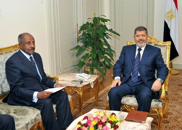 Meeting between President Mohamed Morsi with the Eritrean foreign minister Osman Saleh  (15th April 2013)