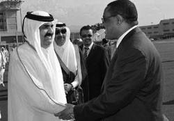 Emir of Qatar visits Ethiopia.