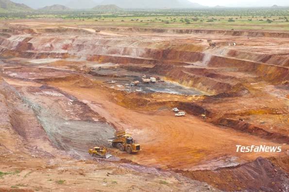 Bisha main South pit mining operation in Eritrea