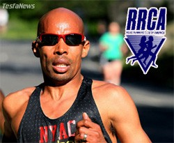 Road Runners Club of America (RRCA) honored Eritrean-American Marathon runner Meb Kiflezghi Male Road Runner of the Year