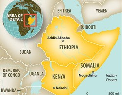 The troubled region of the Horn of Africa