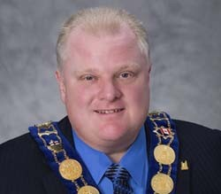Mayor of Toronto city, Rob Ford