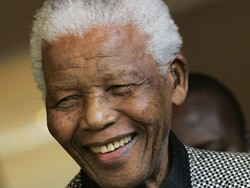 Nelson Mandela - South Africa's first black president following a 20-year anti-apartheid campaign