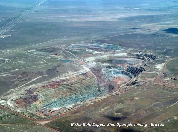 Bisha in Eritrea is a world class gold-copper-zinc open-pit mine