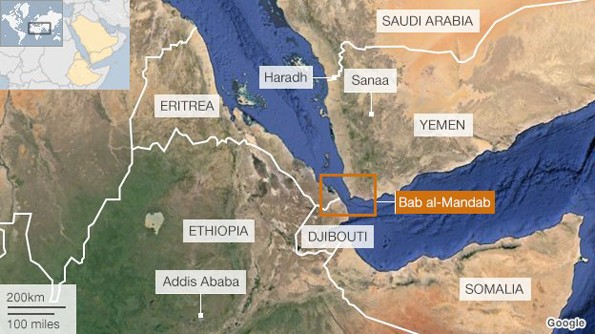 A map showing the journey of Ethiopian migrants to Saudi Arabia