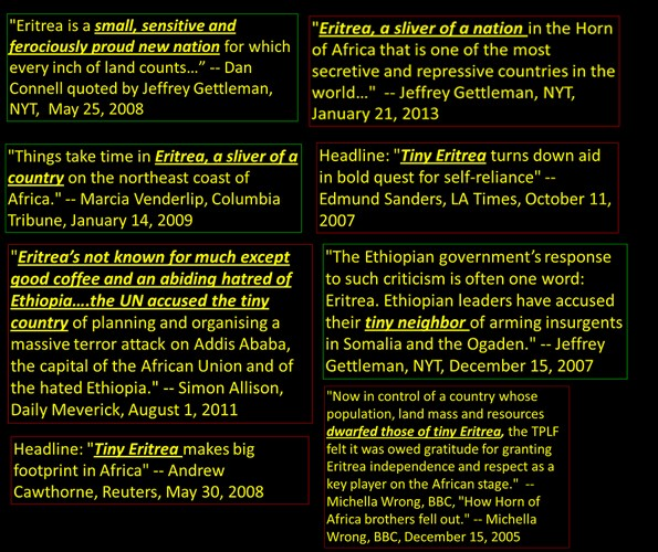 Some of the countless quotes portraying Eritrea as Tiny