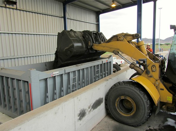 First container of Copper concentrate loaded at Bisha