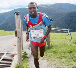 Pedro Mamo of Eritrea on his way to victory