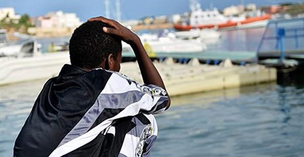 A survivor of the shipwreck off Lampedusa
