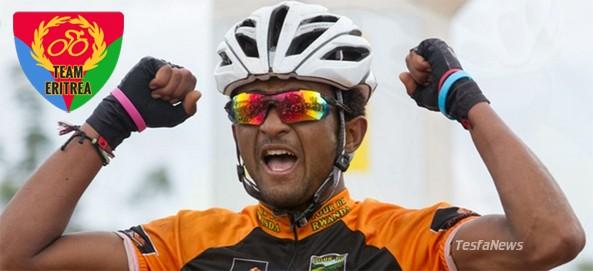 Metkel Eyob winning stage 6 of the Tour f Rwanda 2013
