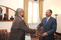 CEN-SAD General Secretary meeting President Afwerki