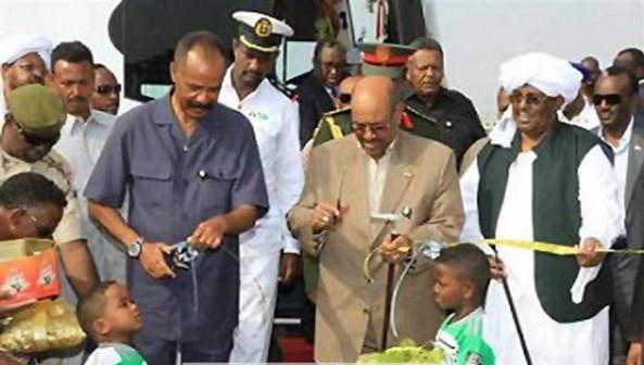 Inaugurating the Garora-Port Sudan Highway (24 Nov 2013)
