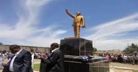Wish granted: Zenawi's statue resembling that of Joseph Stalin or North Korea's Kim Jong Il