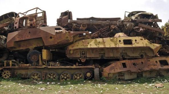 Amazing tank cemetery in Eritrea
