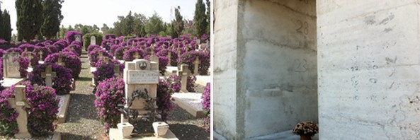 The Italian military cemetery in Asmara Vs. the Eritrean victims cemetery in Agrigento, Italy