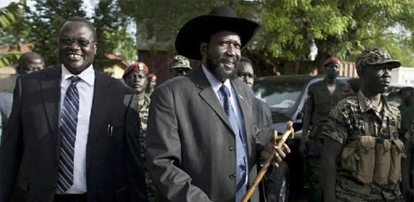 The political feud between President Kiir and VP Machar threatens the young country to be back to a civil war.