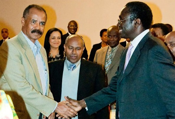 Eritrean President Isaias Afwerki Greets Abdoulaye Mar Dieye, head of UNDP Eastern and Southern Africa