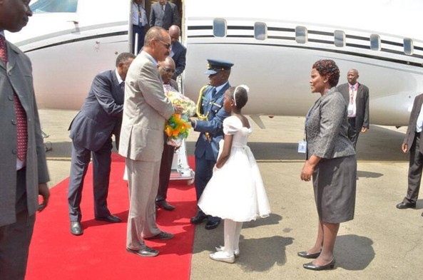 President at Jomo Kenyatta International Airport