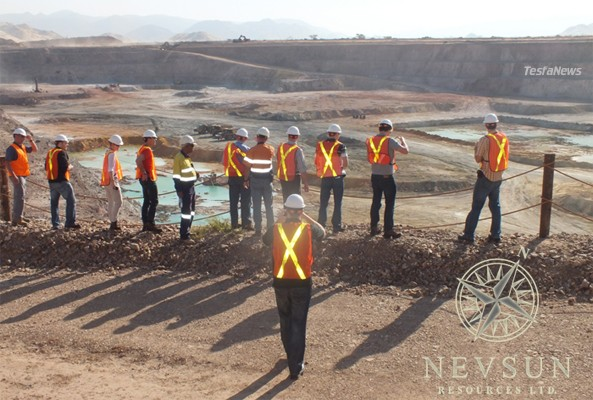 Investor and analysts December tour to Eritrea - Overlooking Bisha Main pit