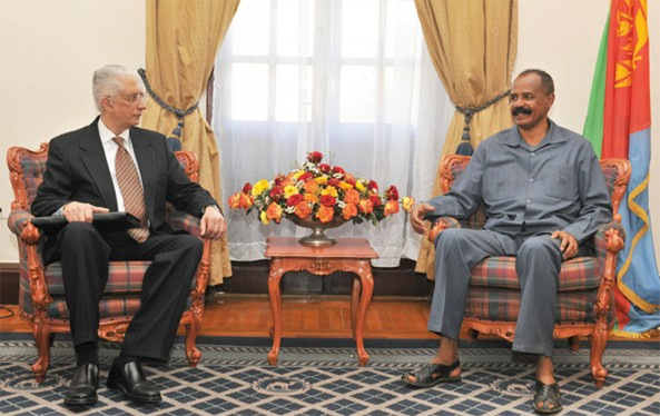 Egyptian Special Envoy with President Afwerki. President Al-Bashir of Sudan is expected to join them tomorrow.