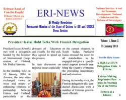 Eritrean Mission to the AU and UNECA released Eri-News 1.5