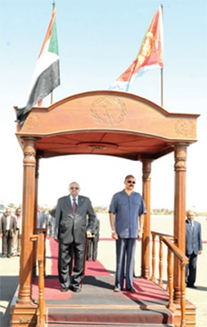 President Al-Bashir on a 3-days visit o Eritrea
