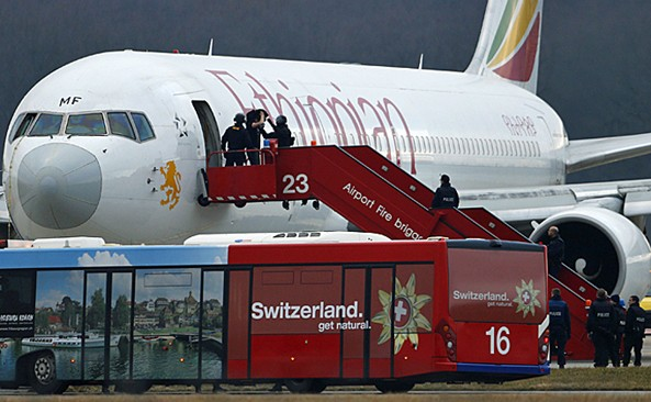 Hijacking a plane is rarely the best way to seek asylu. An Ethiopian pilot hijack his plane to Geneva and ask Political asylum