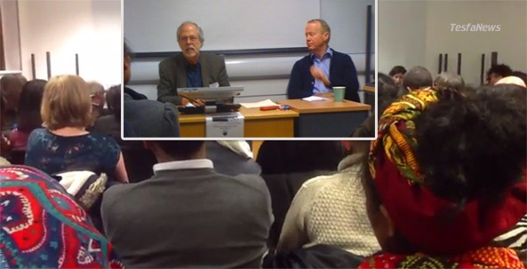 Axis of Evil. Opportunist Dan Connell and Psudo Journalist Martin Plaut make a fool out of themselves on Monday at a seminar they arranged at the School of Oriental and African Studies hall