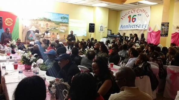 Room filled to capacity at Voice of Eritrea fundraising event
