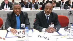 Eritrean delegation led by FM Osman Saleh at the 4th EU - African Summit