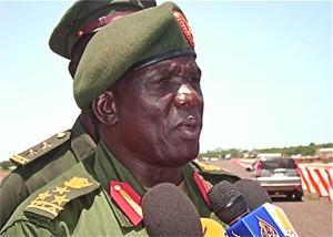 Army Spokesman Brigadier General Malaak Ayuen Ajok confirming his Govt Intercepts UN Trucks Carrying Weapons