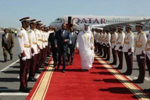 President's first visit since HH Shiek Tamim bin Hamad al-Thani becomes the new Emir