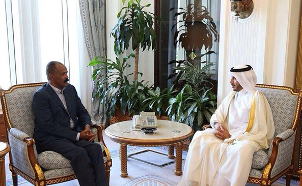 Meeting between H.E President Isaias and Prime Minister & Minister of Interior of Qatar in Doha