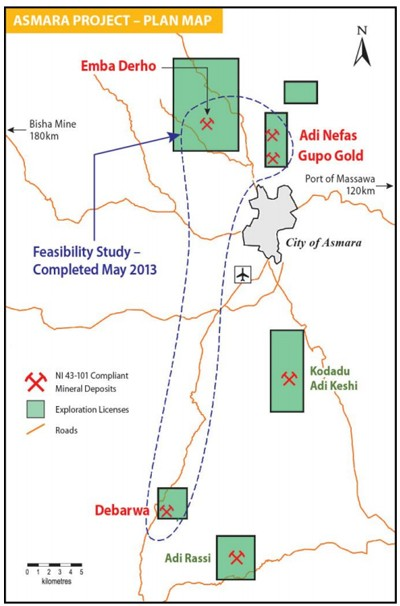 Plan Map for the Asmara Project
