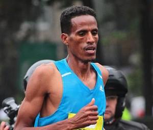 Beraki Beyene won the Santiago Marathon in 2h 11m 50s - just 6 seconds shy of the record