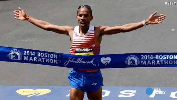 Meb Keflezigh wins Boston Marathon