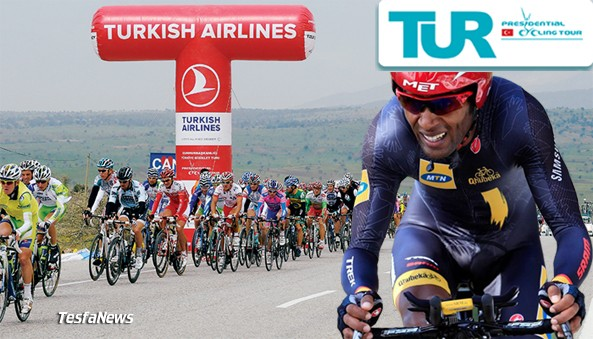 Eritrean Merhawi Kudus,20, among the 8 Pro Teams and 11 Continental Pro teams, that are lined up to take over the trophy from compatriot and winner of the 2013 Tour of Turkey Eritrean Natnael Berhane (Europcar)