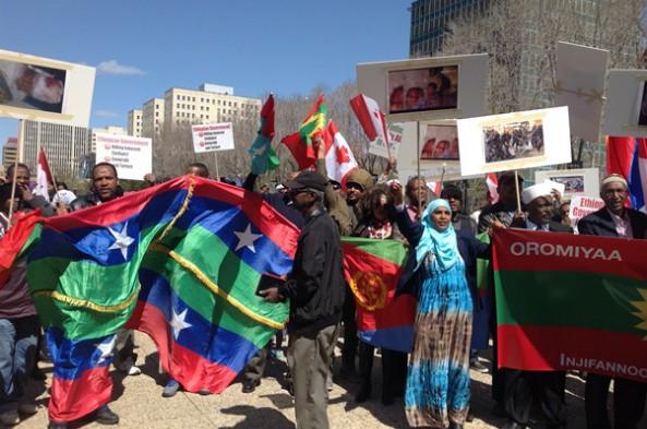 Oromo - Ogaden Communities Protes in Edmenton, Canada