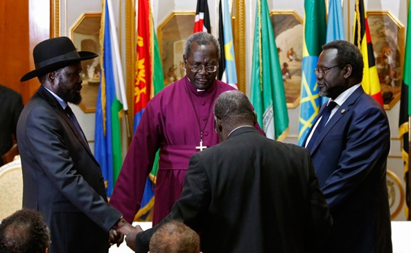 Symbolic Deal. Kiir and Machar avoided eye contact and declined to shake hands when they exchanged documents. The question is, Do the President and rebel leader really have control over their respective army?