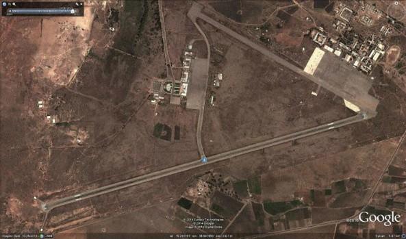 Google Earth preview of Asmara Airport, Eritrea