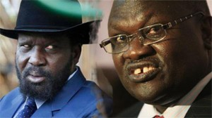 "President Salva Kiir said the growing hunger crisis was ""man-made"" and  appealed to his rival, the rebel leader Riek Machar, to do all he could to end the fighting."
