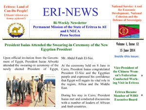 Eritrean Mission to the AU and UNECA released Eri-News 1.12