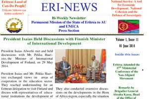 Eritrean Mission to the AU and UNECA released Eri-News 1.20