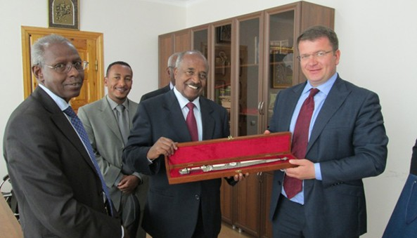 Foreign Affairs minister after a comprehensive meeting with the Eritrean delegation at the MFA of South Ossetia