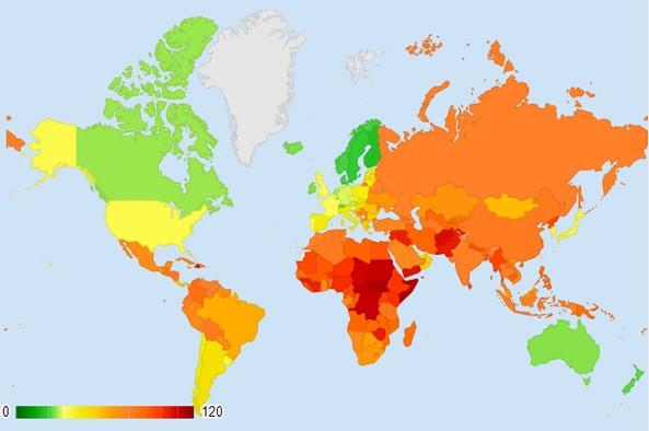 Fragile States Index 2014. Eritrea 19th, Ethiopia 23rd most fragile States for 2014