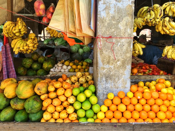 Typical Asmara fruit market