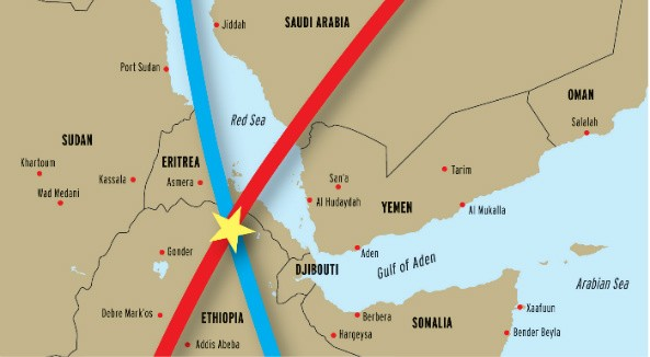 Pinpointing the source of intentional jamming. Ethiopia accused of international air-wave banditery
