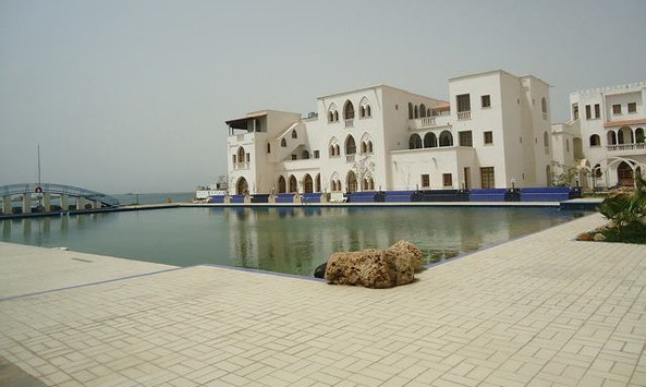 The Grand xxxx Hotel in Massawa right at the shores of the Red Sea