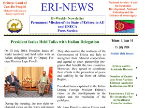 Eritrean Mission to the AU and UNECA released Eri-News 1.14